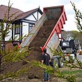 Top soil being delivered - Turf & Lawns - Quest Landscapes Isle of Man